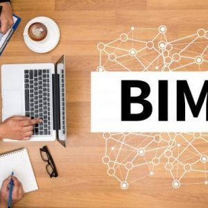 BIM Business team hands at work with financial reports and a laptop