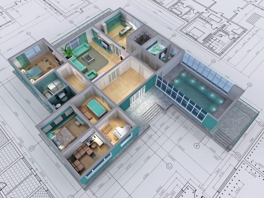 Planos e imagen 3d casa